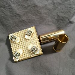 Kyпить Compact & Lipstick Case Vintage Pearls Gold Toned Rhinestone Mother Of Pearl на еВаy.соm