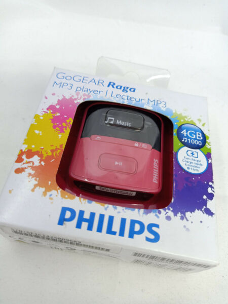 Craigavon,United KingdomPhilips GoGear Raga 2GB MP3 WMA Digital Flash Media Music Player PINK SA4RGA02PN