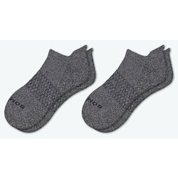 Kyпить 2-Pack ~ CHARCOAL ~ Classic Marls Bombas Men's Ankle Socks Size Large NWT Gray на еВаy.соm