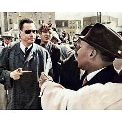 Kyпить Martin Luther King & George Lincoln Rockwell 8x10 RARE COLOR Photo 600 на еВаy.соm