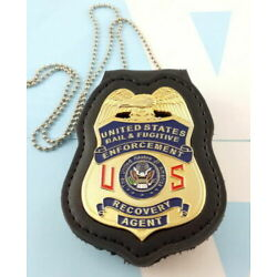 Kyпить  Fugitive Recovery  BADGE WITH  HOLDER CHAIN k& BELT CLIP на еВаy.соm