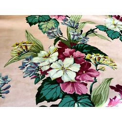 Kyпить Vintage Mid Century Happily Married Huge Gorgeous Floral Fabric Needs Love. на еВаy.соm