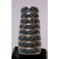 Kyпить handmade southwest silver unmarked turquoise ring size 3 3/4-9 3/4 available 8 на еВаy.соm