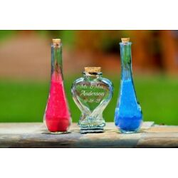 Personalized Heart Unity Sand Ceremony Set  - 3 Pc with Sand - Mr. Mrs. - TD