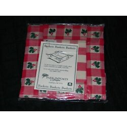 Park Imports & Designs Christmas Holiday Holly Berry Red Cloth Basket 5''x5''