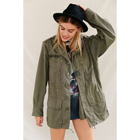 img-Vintage French army M64 olive field jacket combat coat surplus military w