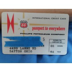 Kyпить Phillips 66 Petroleum Company 1964 Vintage Collectors Credit Card на еВаy.соm
