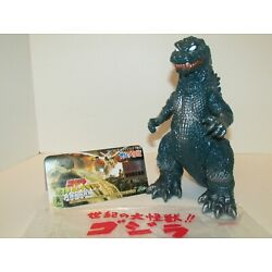 Kyпить 2001 M1 GMK GODZILLA FIGURE HMV EXCLUSIVE MINT w/HEADER CARD & BAG RARE!! на еВаy.соm