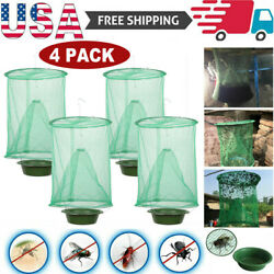 Kyпить 4 Pack The Ranch Fly Trap Reusable Fly Pest Bug Catcher Killer Cage Net Trap на еВаy.соm