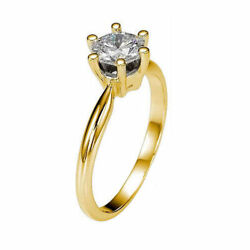Kyпить GENUINE 1.5 CT DIAMOND ENGAGEMENT RING LADIES 18K YELLOW GOLD SOLITAIRE на еВаy.соm