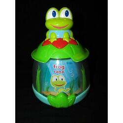 Kyпить Bright Starts Press and Spin Learning Toy Pond Frog Spinner Toy English Spanish на еВаy.соm