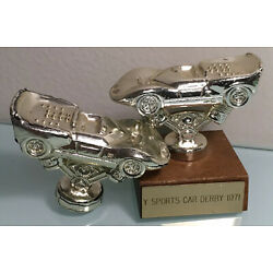 Kyпить Vtg 1971 Sports Car Derby car trophy metal  trophies racing race  на еВаy.соm