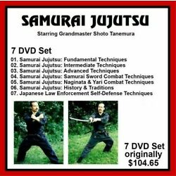 Kyпить SAMURAI JUJUTSU 7 DVD Set Training series w Shoto Tanemura   panther productions на еВаy.соm