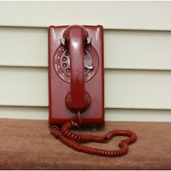 Kyпить VTG RED WESTERN ELECTRIC BELL SYSTEMS  Rotary Wall Mount Telephone.  на еВаy.соm