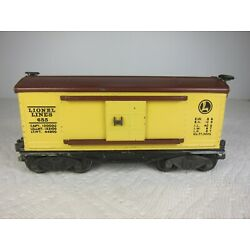 Kyпить LIONEL 655 RUBBER STAMPED BOX CAR-1941 w/1945 FLYING SHOE COUPLERS-FREE SHIP! на еВаy.соm