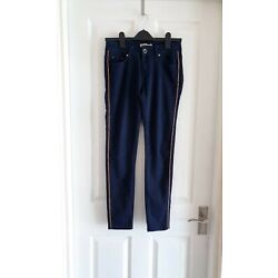 Toxic 3 Skinny Jeans size M UK 10 Navy Blue Stretchy Low Rise New without tags