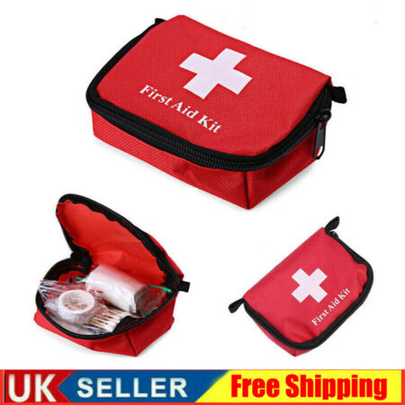 img-Outdoor Hiking Camping Survival Travel Emergency First Aid Kit Rescue Bag Case.