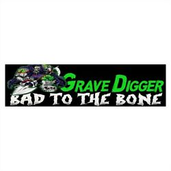 Bumper Stickers Monster truck Bad to the Bone Grave Digger monster energy