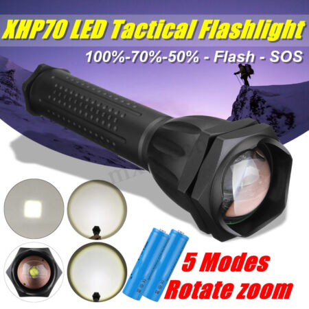 img-200000LM XHP70 Tactical Flashlight Military Super Bright Torch 18650 Lamp -