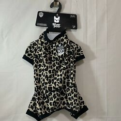 Silver Paw Dog NWT Basic Pajama in Leopard Print Size M or XXL *Matching Joggers