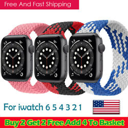 Braided Solo Loop series 3 4 5 6 strap For Apple watch band Nylon Elastic iWatch