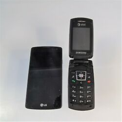 Att Samsung LG Metro PCS Cell Phones Lot of 2 Working Condition or Parts