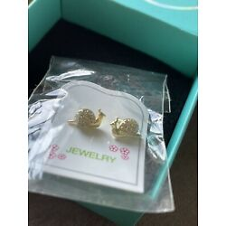 Kyпить Gold Plated Snail Safety Screw Back Earrings for Kids and Little Girls на еВаy.соm