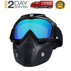 Kyпить Motorcycle Helmet Riding Goggles Glasses With Removable Face Mask на еВаy.соm