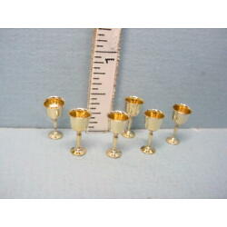 Miniature Brass Goblets #1748-100 Clare-Bell Brass Works 1/12th Scale