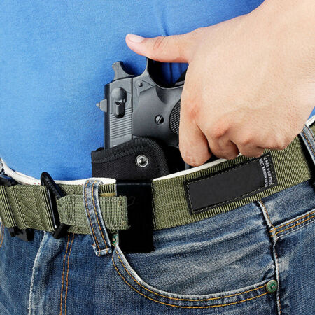 img-Universal Tactical Gun Holster Concealed Carry Holsters Belt Metal ClSG