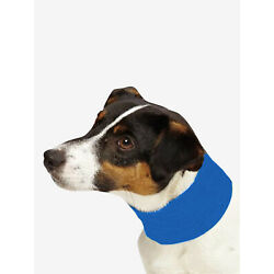 NEW! COOLING INSECT SHIELD DOG PET NECK GAITER SCARF BUG PROTECTION BLUE