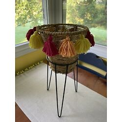 Pier1 Imports boho basket and stand; New