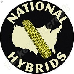 NATIONAL HYBRIDS 11.75in ROUND METAL SIGN