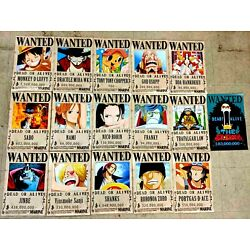 16pcs/Set One Piece Wanted Poster Anime Straw Hat Pirates 16'' x 11.5'' Poster New