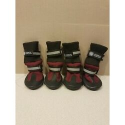American Kennel Club Dog Boots Insulated Size Small LNC Burgundy And Black