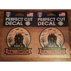 Halloween Perfect Cut Decals, Lot of 2 Spooktacular Haunted House, WinCraft USA