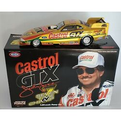 1998 ACTION 1/24 JOHN FORCE 7 TIME CHAMP NHRA FORD MUSTANG FUNNY CAR DIECAST
