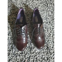 Hotter Women Brogue Wing tip Oxford size 8.5 Dress Shoes