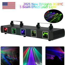 5 Lens Beam Laser Projector Stage Light RGBYC DMX For DJ Disco Show Party Home