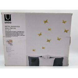 The Original MARIPOSA BUTTERFLY Stick-On BRASS Wall Decor by Umbra  Set of 9
