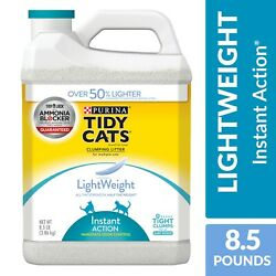 Tidy Cats LightWeight Instant Action Dust Free Clumping Multi Cat Litter, 8.5 lb