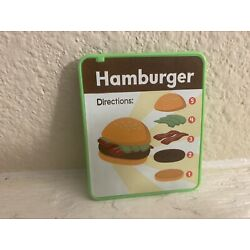 New Fisher price laugh and learn food truck replacement hamburger menu parts