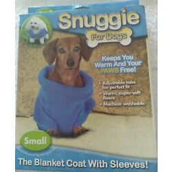 Snuggie for Dogs Small Blue As Seen on TV Keeps Dog Warm and Paws Free NIB SF