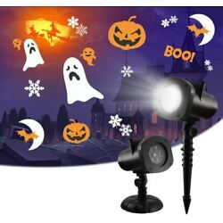 Holiday Outdoor Indoor Projector Light Lamp 12 Theme Xmas Thanksgiving Halloween