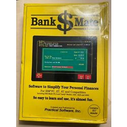 Vintage Bank Mate Personal Finance Software - 5 1/4 Diskette-New in Original Box