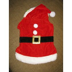 SANTA suit for small dog cat NEW Time for Joy CHRISTMAS outfit coat XS/S