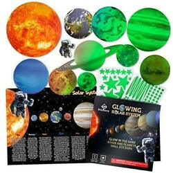 Glow in The Dark Stars and Planets for Ceiling, Bright Solar System Wall