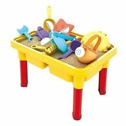 Kids Sand and Water Table - Beach Play Activity Table Sandbox with Cover for