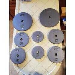 CAP Steel Weight Plates, 100 Pounds Total, One-Inch Holes -- 2x25, 4x10, 2x5