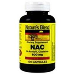 Nature's Blend NAC N-Acetyl-L-Cysteine 600mg Supplement 100ct  Capsules
